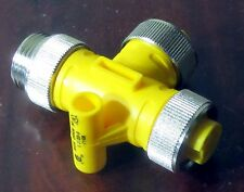 Turck RSM-2RKM50 CONNECTOR, TEE, 2 FEMALE - 1 MALE, EUROFAST, RSM 2RKM50