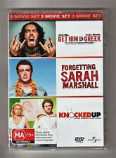Get Him To The Greek / Forgetting Sarah Marshall / Knocked Up DVD - Brand New