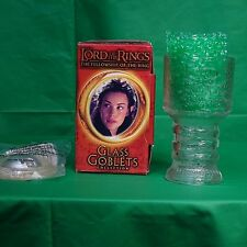 Arwen the Elf Lord of the Rings Glass Goblet from Burger King Light up Base