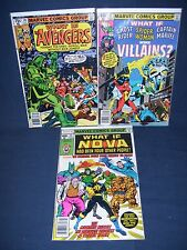 What If #15, #17 and #20 Marvel Comics with Bag and Board