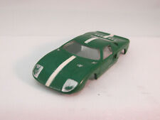 AURORA MODEL MOTORING #1374 GREEN W/WHITE STRIPE FORD GT ~ GOOD ~ GREAT HANDLING