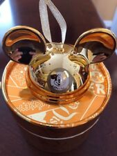 Disney Parks Mickey Mouse Club Gold Ear Hat Ornament Limited Edition 2000 - New