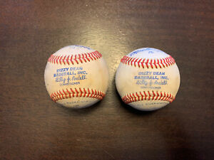 (2) Vintage MacGregor Dizzy Dean League Baseballs Billy J. Powell Commissioner