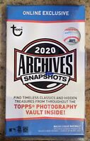 2020 TOPPS ARCHIVES SNAPSHOTS - ONLINE EXCLUSIVE - GUARANTEED AUTO!
