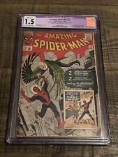 Amazing Spider-Man #2 CGC 1.5 Marvel Comic 1963 First Vulture! Restored.