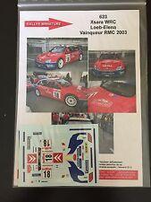 DECALS 1/43 CITROEN XSARA WRC SEBASTIEN LOEB RALLYE MONTE CARLO 2003 RALLY WRC