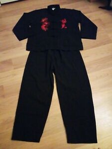 Kids Boys Martial Arts Kung Fu Tai Chi Chinese Traditional Jacket Suit Black NEW