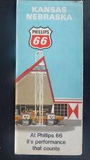 1971 Kansas Nebraska   road map Phillips 66  oil  gas