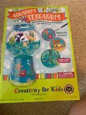 NIB Creativity for Kids Aquarium Terrarium Craft Kit Grow w/Water Model #6145000