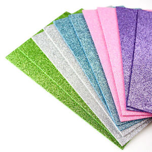 A5 Glitter Foam Sheets For Crafts and Card Making - 10 Pack