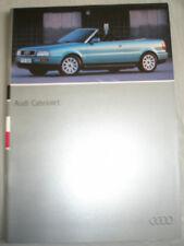 Audi Cabriolet range brochure Jul 1994 German text