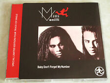MILLI VANILLI - Baby Don't Forget My Number - RARE 1988 CD Single