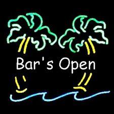 Bars Open Neon Bar Sign