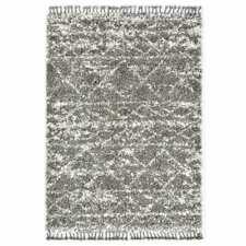 vidaXL Tapijt Berber Hoogpolig 120x170cm PP Grijs en Beige Vloerkleed Karpet