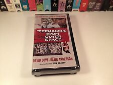 Teenagers From Outer Space Rare Sealed Cult Classic Sci Fi VHS 1959 David Love