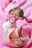 MY ADORABLE BABY GIRL !!BERENGUER PREEMIE LIFELIKE REBORN DOLL W PACIFIER,BOTTLE