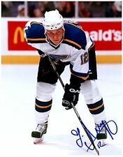 St. Louis Blues LADISLAV NAGY Signed Autographed 8x10 Pic A
