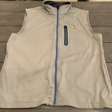 MASTERS PERFORMANCE TECH GOLF VEST FULL ZIP JACKET SIZE XL Gray