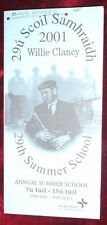 RARE WILLIE CLANCY FESTIVAL PAMPHLET ,UILLEANN PIPES TRADITION IRISH FOLK MUSIC