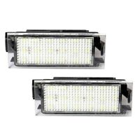 2X LED License Plate Number Light for RENAULT Twingo Clio Megane Laguna Y4S4