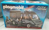 PLAYMOBIL 6043 City Polizei-Mannschaftswagen mit Licht und Sound TV Werbung NEU*