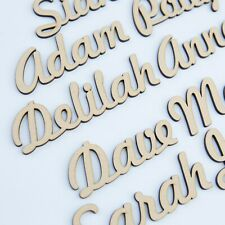 Personalised Script names, letters or words. Wooden 3.2mm High Quality MDF FH