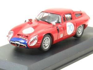 Best Modelos de Metal 9062 Alfa Romeo Tz 1 Rojo Targa Florio 1965 1 43 Escala