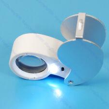 New 40x Mini Magnifying Glass LED Illuminate Jeweller Loupe