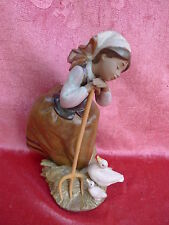 beautiful Porzellanfigur__Mädchen with Geese and Rake__lladro__23cm