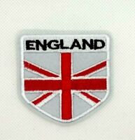 white BRITISH Flag Embroidered Patch Union England UK Great Britain Iron-on 349