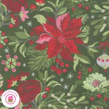 Moda NAUGHTY OR NICE 30630 16 Green Floral BASIC GREY Quilt Fabric CHRISTMAS