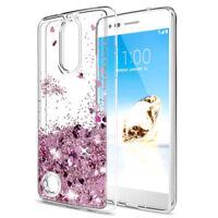 For LG Aristo 2 / K8 2018 Case Moving Glitter Liquid Quicksand TPU Phone Cover
