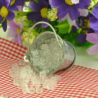 1 Bag Dollhouse Miniature Ice Cube 1:12 Scale Fairy Home Kitchen Terrarium Decor