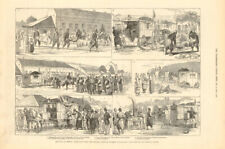 Serbian-Turkish War: British Ambulance Paracin Smederevo. Serbia 1876