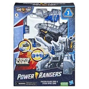 POWER RANGERS DINO FURY TRICERA BLADE ZORD STEGO SPIKE ZORD LINK F1400 Ryusoul