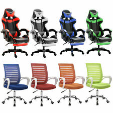 Ergonomic Racing Gaming Chair Swivel Office Computer Desk Seat Leather Recliner