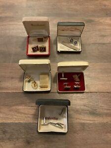 Lot of Vintage 1940's Cufflinks Tie Pin/Clips Morse Bentley Key Kraft Anson