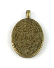 20 Antiqued bronze Oval Cabochon Settings Charm 30x22m