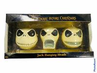 🔥 NECA • Nightmare Before Christmas • Jack Hanging Head Ornaments • 3 PC Set