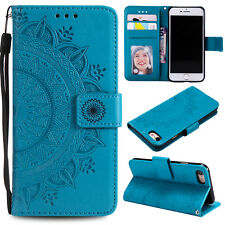 For iPhone X 5C 5s 6 7 8 Plus Wallet Leather Case Flip Stand Phone Case Cover