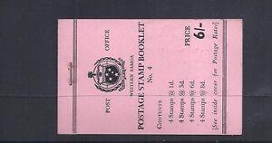 SAMOA 1962-4 booklet SG SB9 VF NH