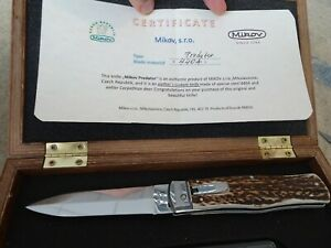 Mikov Predator Custom Knife with Antler and in Atypical High Quality 440 Steel i