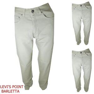pantaloni versace uomo in cotone vita alta diritto a jeans estivo tg W30 31 32