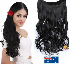 """Realistic Human Invisible Real Hair Extensions Black Curly Extentions 24"""""""