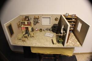 Puppenküche Puppenstube Puppenhaus mit 75 Teile Spielhaus  * 2641