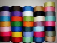 "LOT 36 YARDS GROSGRAIN RIBBON SOLID COLORS 7/8 INCH ""REFBL1"