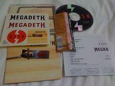 MEGADETH / risk / JAPAN LTD CD OBI bonus track STICKER
