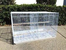 NEW Aviary Bird Breeder Breeding Cage Center Divider 24x16x16H WHT - 159