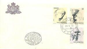 San Marino, FDC - Virtù civili (sapienza, amore, costanza), 28/09/1978
