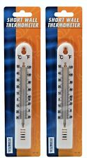2 WALL THERMOMETER - INDOOR OUTDOOR GARDEN GREENHOUSE HOME OFFICE ROOM 155